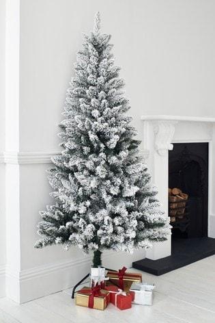 Half Christmas Tree.6ft Snowy Half Christmas Tree