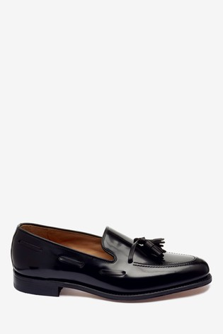 loake black loafers