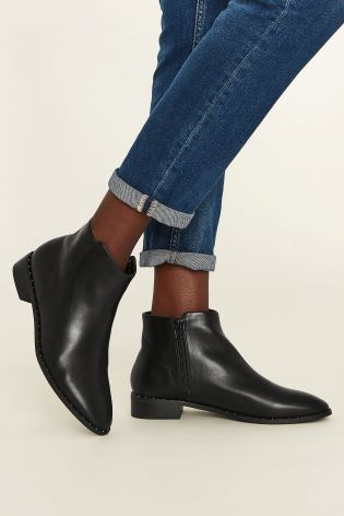 43609664e52c Buy Oasis Black Studded Chelsea Boot from Next Ireland