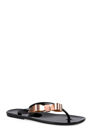 5ab6b1a797dc Buy Ted Baker Black Suszie Bow Jelly Flip Flop from the Next UK ...