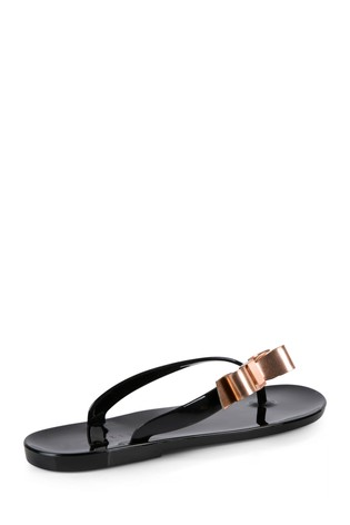 23806452752e Buy Ted Baker Black Suszie Bow Jelly Flip Flop from Next Denmark