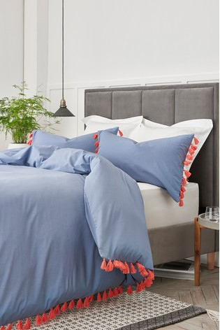 7c4f85d710b8 Buy Tassels Trim Duvet Cover and Pillowcase Set from the Next UK ...