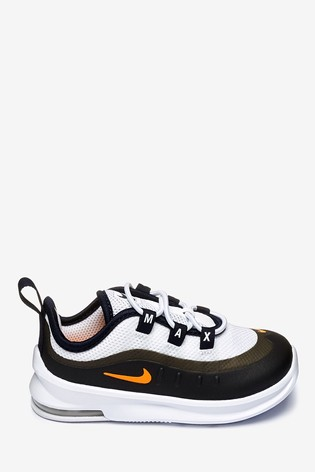 Nike WhiteOrange Air Max Axis Infant Trainers