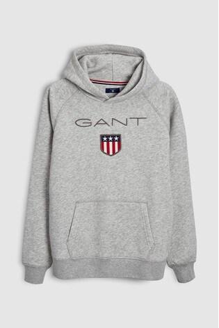 Buy GANT Teen Grey Shield Sweat Hoody from Next Slovakia fc8d5a55ba0