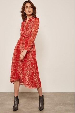 a9d84d89be7f Buy Mint Velvet Red Tori Print Twist Shirt Dress from Next Slovakia