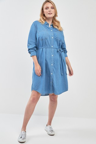 10dda1f0c7f Buy Levi s® Plus Bebe Denim Shirt Dress from the Next UK online shop