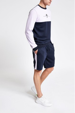 929215fbe4cdd Buy River Island Navy/Lilac Colourblock Short from the Next UK ...