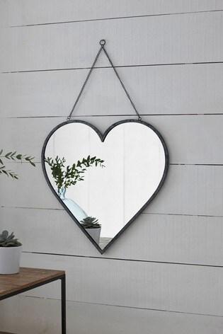 Large Hanging Heart Mirror