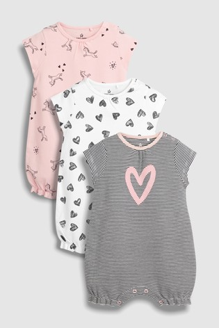 541d0aaeb Buy Unicorn Romper Three Pack (0mths-2yrs) from the Next UK online shop