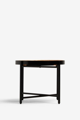 Black And Oak Side Table