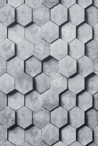 Buy Paste The Wall Hexagonal 3d Wallpaper Sample From The