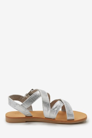 637e1301e3 Buy TOMS Silver Metallic Crossover Sandal from Next Malta