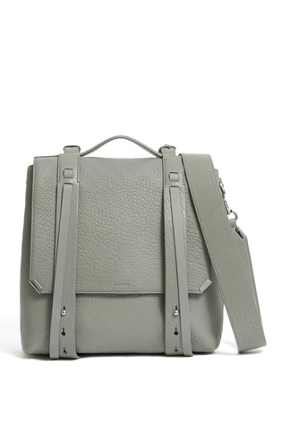 28c8a55d7 Buy AllSaints Grey Grained Vincent Grained Leather Backpack from the ...
