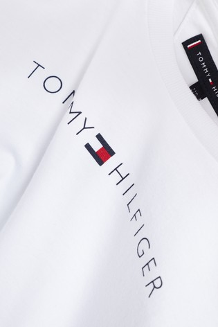 b43eb72bb Buy Tommy Hilfiger White Essential Logo Tee from Next Malta