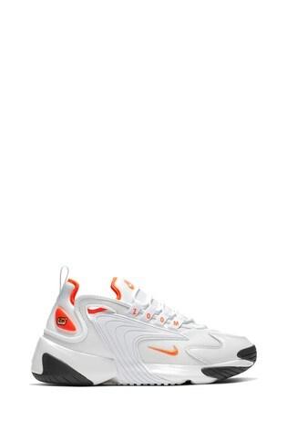 Nike White/Orange Zoom 2K Trainers