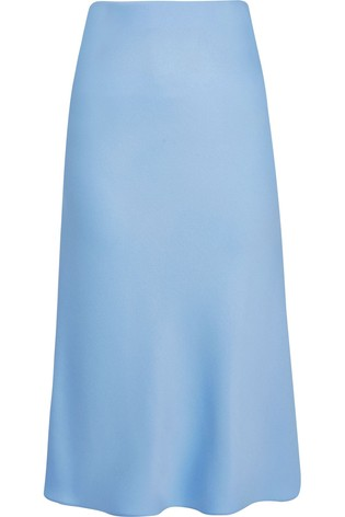 49ebda43d0 Buy River Island Light Blue Bias Cut Skirt from the Next UK online shop
