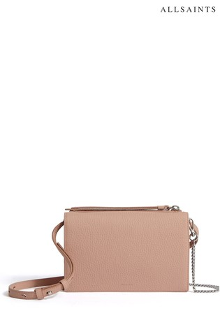 199fb4a37 Buy AllSaints Nude Fetch Leather Cross Body Bag from the Next UK ...
