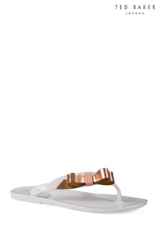 ba57036f5376 Buy Ted Baker White Suzie Jelly Bow Flip Flop from the Next UK ...