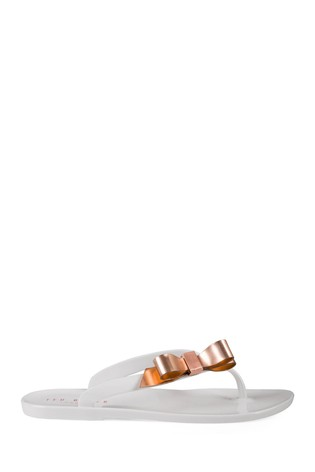 fdb49e947b70 Buy Ted Baker White Suzie Jelly Bow Flip Flop from Next Ireland