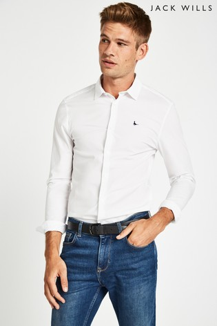3fcaff49a8 Buy Jack Wills White Hinton Skinny Fit Shirt from the Next UK online ...