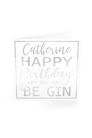 Buy Personalised Fun Gin Birthday Card By Croft Designs From The