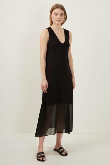 bf4eff2b4059 Buy Great Plains Black Leighton Mix V-Neck Dress from the Next UK ...