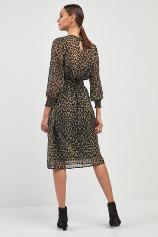 d31067597f8a Buy Print Sheer Midi Dress from the Next UK online shop
