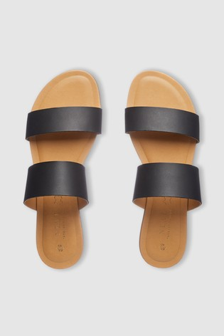 8ab45a6e2a1c Buy Forever Comfort® Two Band Mule Sandals from the Next UK online shop