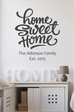 buy personalised home sweet home wall sticker by loveabode from the