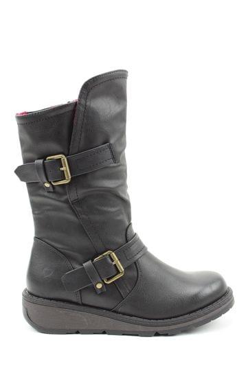 Buy Heavenly Feet Black Ladies Mid-Calf