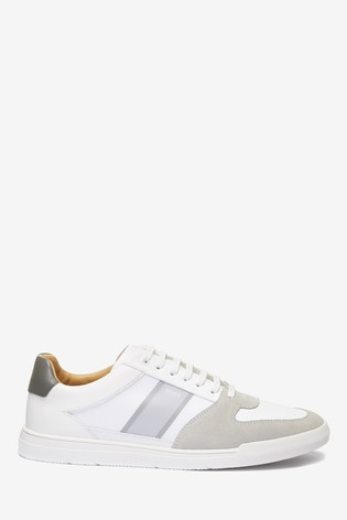 Buy BOSS White Cosmopool Trainers from