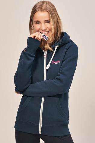 7b7d5da1c71e Buy Superdry Navy Full Zip Hoody from the Next UK online shop