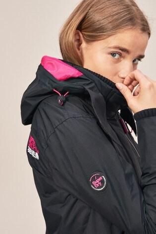 c206a310f1af4 Buy Superdry Black/Pink Windcheater Jacket from the Next UK online shop