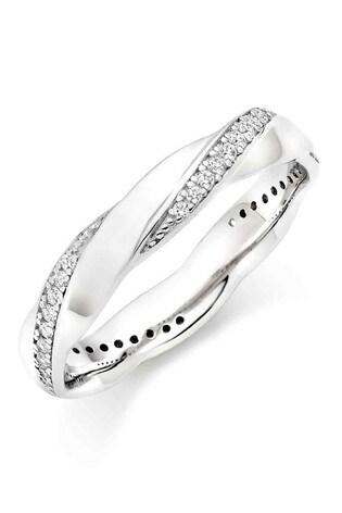 Buy Beaverbrooks Silver Cubic Zirconia Twist Ring From Next Qatar