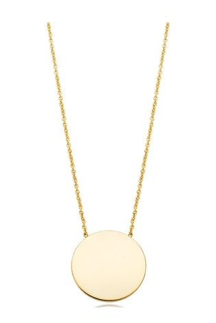 35d5a14fee888 Beaverbrooks 9ct Gold Disc Necklace