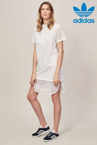 352bb74f7 adidas Originals White CLRDO Tee Dress