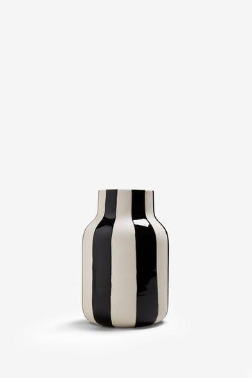 Buy Ceramic Stripe Vase From The Next Uk Online Shop