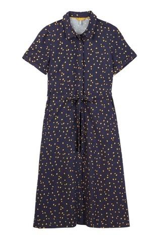 df9bc21264 Kaufen Sie Joules Winslet bedrucktes Hemdkleid mit Knopfleiste, blau bei Next  Deutschland