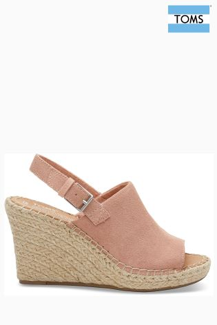 3abb923d83bd6 Buy Toms Bloom Suede Monica Espadrille Wedge from Next Ireland