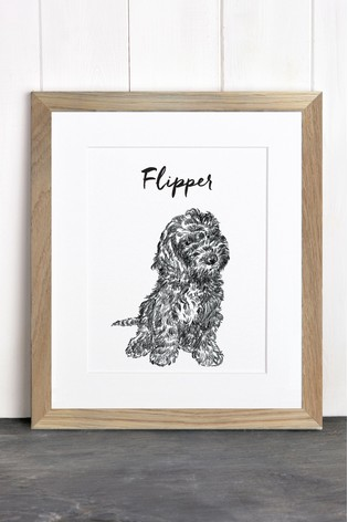Buy Personalised Pet Dog Framed Print by Letterfest from the Next UK ...