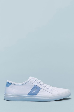 Buy Crew Clothing Blue Canvas Trainers