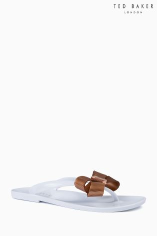c0b41a29b35ca6 Buy Ted Baker White Rose Gold Suszie Flip Flop from Next Ireland