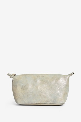 Oliver Bonas Grey Zoya Metallic Make Up Bag
