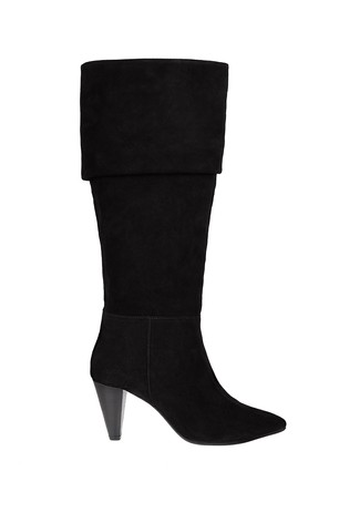 black suede slouch boots uk