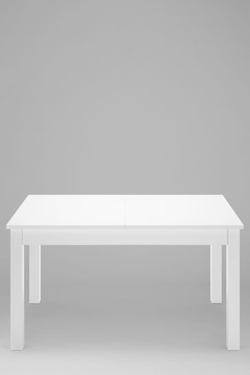 Miraculous White Gloss Double Extending Dining Table Ncnpc Chair Design For Home Ncnpcorg