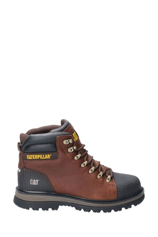 Buy CAT® Brown Foxfield Lace-Up Safety