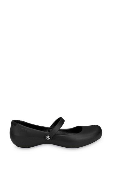 Crocs femme Alice travail Slip On Shoe Black Size UK 3 EU 34.5