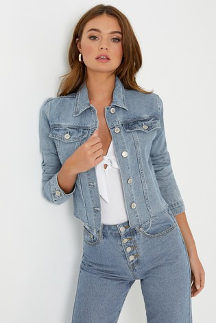 look out for really cheap 50% price Boohoo Cropped Denim Jacket