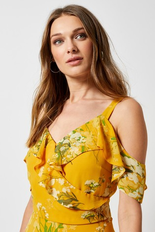 cddbca18eadc Buy Dorothy Perkins Chiffon Cold Shoulder Maxi Dress from Next USA