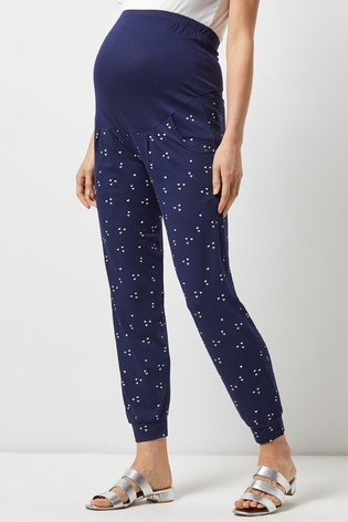 4bf80042fa375 Buy Dorothy Perkins Maternity Floral Fold Over Bump Jogger from the ...